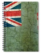 Grunge Fiji Flag Spiral Notebook