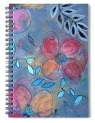 Grunge Floral II Spiral Notebook