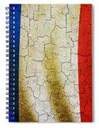 Grunge France Flag Spiral Notebook