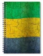 Grunge Gabon Flag Spiral Notebook