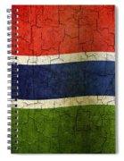 Grunge Gambia Flag Spiral Notebook