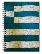 Grunge Greece Flag Spiral Notebook