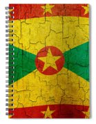 Grunge Grenada Flag Spiral Notebook