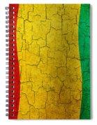 Grunge Guinea Flag Spiral Notebook