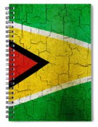 Grunge Guyana Flag Spiral Notebook