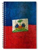 Grunge Haiti Flag  Spiral Notebook