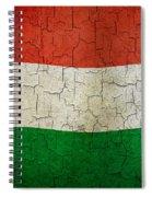 Grunge Hungary Flag Spiral Notebook
