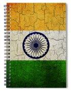 Grunge India Flag Spiral Notebook