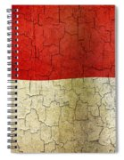 Grunge Indonesia Flag Spiral Notebook