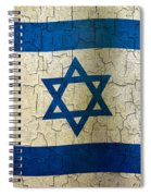 Grunge Israel Flag Spiral Notebook