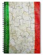 Grunge Italy Flag Spiral Notebook