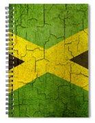 Grunge Jamaica Flag Spiral Notebook