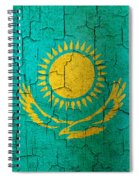 Grunge Kazakhstan Flag Spiral Notebook