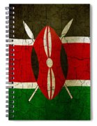 Grunge Kenya Flag Spiral Notebook