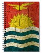 Grunge Kiribati Flag Spiral Notebook