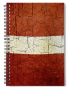 Grunge Latvia Flag Spiral Notebook