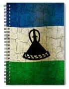 Grunge Lesotho Flag Spiral Notebook