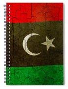 Grunge Libya Flag Spiral Notebook
