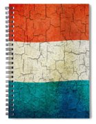 Grunge Luxembourg Flag Spiral Notebook