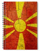 Grunge Macedonia Flag Spiral Notebook