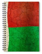 Grunge Madagascar Flag Spiral Notebook