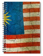 Grunge Malasia Flag  Spiral Notebook