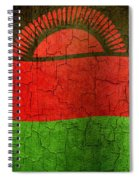 Grunge Malawi Flag Spiral Notebook