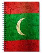Grunge Maldives Flag Spiral Notebook