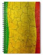 Grunge Mali Flag Spiral Notebook