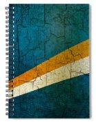 Grunge Marshall Islands Flag Spiral Notebook