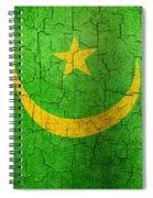 Grunge Mauritania Flag Spiral Notebook
