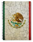 Grunge Mexico Flag Spiral Notebook