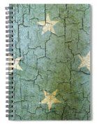 Grunge Micronesia Flag Spiral Notebook