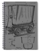 Grunge Mine Trolley Patent Spiral Notebook