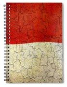 Grunge Monaco Flag Spiral Notebook