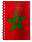 Grunge Morocco Flag Spiral Notebook