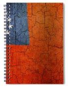 Grunge Myanmar Flag Spiral Notebook