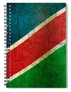 Grunge Namibia Flag Spiral Notebook