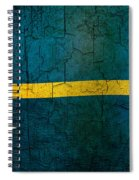 Grunge Nauru Flag Spiral Notebook