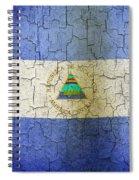 Grunge Nicaragua Flag Spiral Notebook