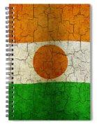 Grunge Niger Flag Spiral Notebook