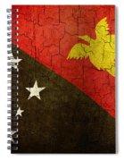 Grunge Papua New Guinea Flag Spiral Notebook