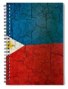 Grunge Philippines Flag Spiral Notebook