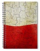 Grunge Poland Flag Spiral Notebook
