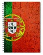 Grunge Portugal Flag Spiral Notebook