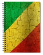 Grunge Republic Of The Congo Flag Spiral Notebook
