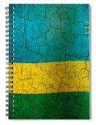 Grunge Rwanda Flag Spiral Notebook