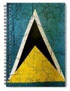 Grunge Saint Lucia Flag Spiral Notebook