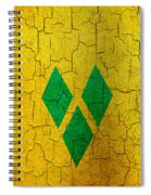 Grunge Saint Vincent And The Grenadines Flag Spiral Notebook