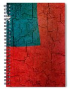 Grunge Samoa Flag Spiral Notebook